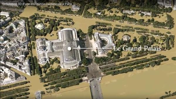 flom simulering i Paris