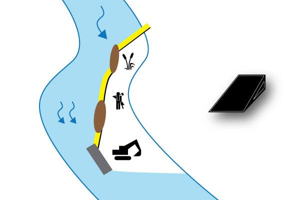 fangdammen elv på sandbanken