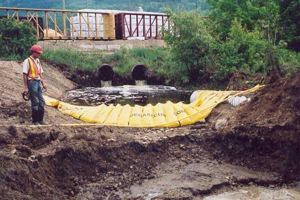 kanalisering river cofferdams