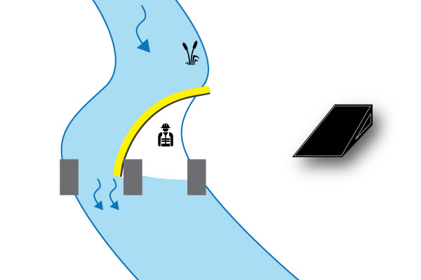 elven cofferdam på bridge pier
