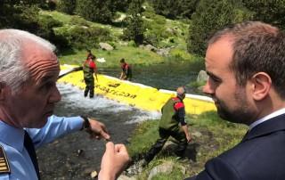 Sebastien Lecornu découvre le barrage Water-Gate